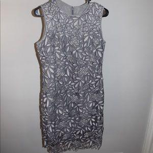 White House/ Black Market Grey Cocktail Dress